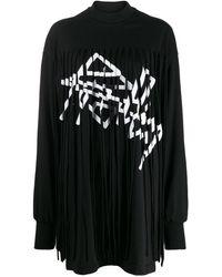 Palm Angels フリンジドレス - ブラック