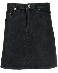 McQ A-line Denim Skirt - Black