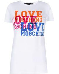 Love Moschino Футболка С Логотипом - Многоцветный