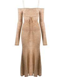 Jacquemus Трикотажное Платье С Открытыми Плечами - Естественный