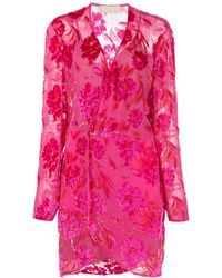 Fleur du Mal フローラル ラップドレス - ピンク