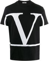 Valentino Garavani Vロゴ Tシャツ - ブラック