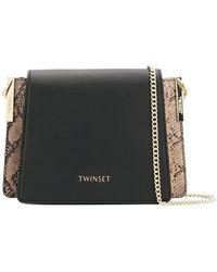 Twin Set - Panelled Shoulder Bag - Lyst