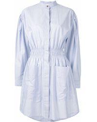 Cedric Charlier ストライプ シャツドレス - ブルー