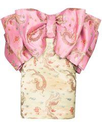 ROTATE BIRGER CHRISTENSEN Silvia Dragon Mini Dress - Pink