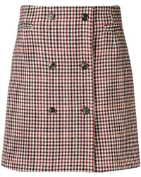 Mauro Grifoni - Checked Short Skirt - Lyst