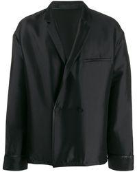 Haider Ackermann Double Breasted Jacket - Black