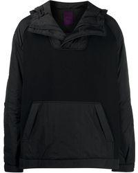 Juun.J Sudadera a paneles con capucha - Negro
