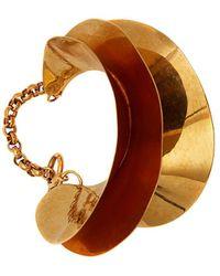 JW Anderson Shell Cuff Bracelet - Metallic