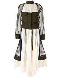Sacai - Colourblock Panelled Dress - Lyst