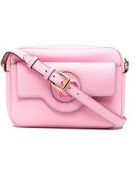 Versace Medusa Plaque Satchel Bag - Pink
