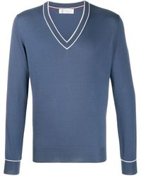 Brunello Cucinelli - Vネック セーター - Lyst