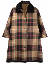 Mackintosh Edzell Reversible Check-pattern Coat - Multicolour