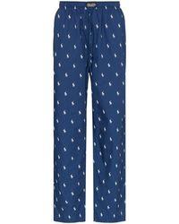 Polo Ralph Lauren Pyjamabroek Met Logoprint - Blauw