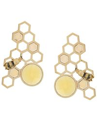 Delfina Delettrez - 9kt Yellow Gold To Bee Or Not To Be Earrings - Lyst