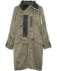 Sacai - Ma-1 Long Coat - Lyst