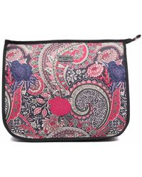 Etro Trousse make up con stampa paisley - Rosa