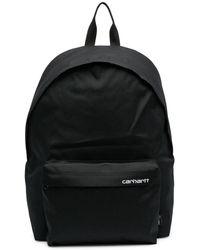 Carhartt WIP ロゴ バックパック - ブラック