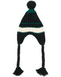 Marni ポンポン ニット帽 - ブラック