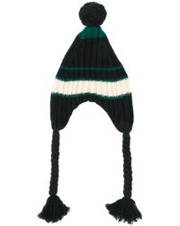 Marni Knitted Pom Pom Hat - Black