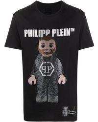Philipp Plein Футболка С Логотипом И Кристаллами - Черный