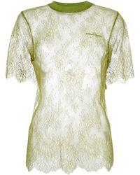 Off-White c/o Virgil Abloh レース Tシャツ - グリーン