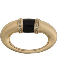 Dior 1980s Pre-owned Oval Brooch - Metallic
