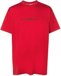 Givenchy ロゴプリント Tシャツ - レッド