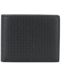Ferragamo Складной Бумажник Gancini С Тиснением - Черный