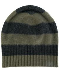 Vince - Cashmere Striped Beanie - Lyst