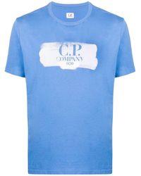 C P Company ロゴ Tシャツ - ブルー
