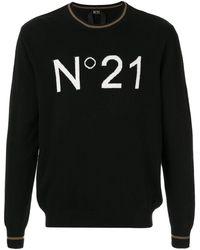 N°21 リラックスフィット セーター - ブラック