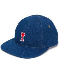 AMI Baseball Cap With De Coeur Patch - ブルー