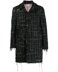 Thom Browne Tweed Overjas - Zwart