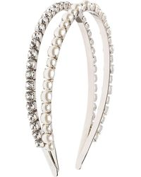 Miu Miu Embellished Double Hairband - Metallic