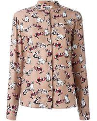 MSGM - Cat Print Shirt - Lyst