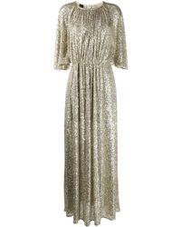 Pinko Sequin Embroidered Dress - Metallic