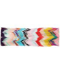 Missoni Chevron Headband - Pink