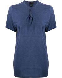 Avant Toi オーバーサイズ Tシャツ - ブルー
