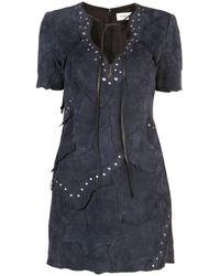 COACH スエード ドレス - ブルー