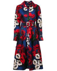 Samantha Sung Floral Flared Shirt Dress - Zwart