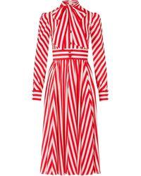 Dolce & Gabbana ストライプ シャツドレス - レッド