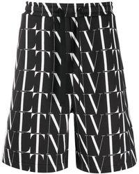 Valentino Шорты-бермуды С Логотипом Vltn - Черный