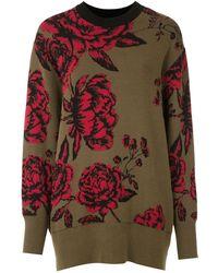 Osklen Jacquard Roses Sweater - Green