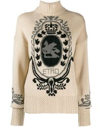 Etro - インターシャロゴ セーター - Lyst