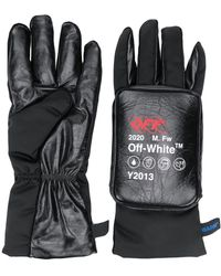 Off-White c/o Virgil Abloh Logo Detail Padded Gloves - Black