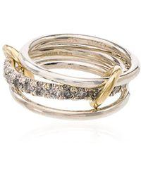Spinelli Kilcollin Золотое Кольцо Petunia С Бриллиантами - Металлик