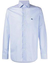 Etro Overhemd Met All-over Print - Blauw