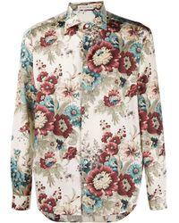 Etro - Рубашка С Цветочным Принтом - Lyst