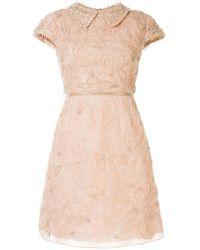 Marchesa キャップスリーブ ドレス - マルチカラー
